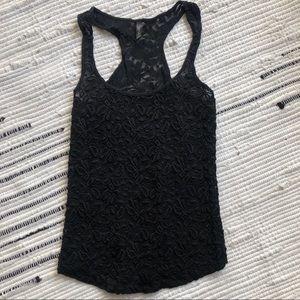 Black lace full tilt tank